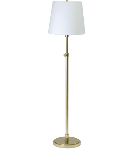 House of Troy TH701-RB Townhouse 46 inch 100 watt Raw Brass Floor Lamp Portable Light photo