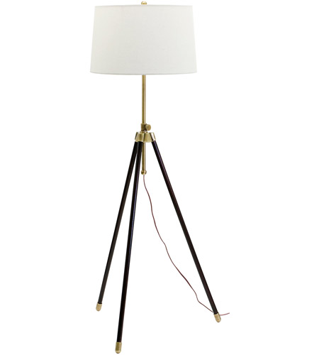 House of Troy TR201-AB Tripod 46 inch 150 watt Antique Brass Floor Lamp Portable Light photo