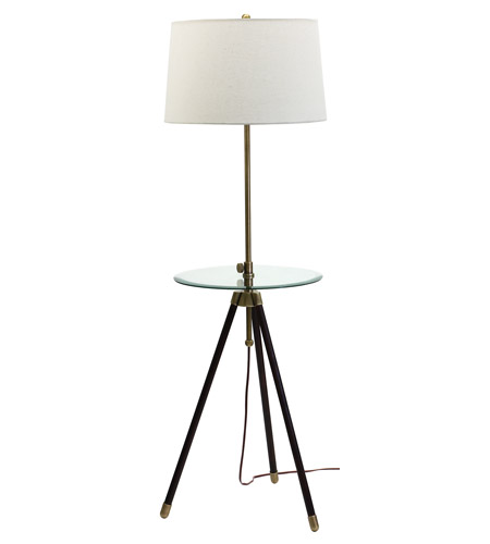 House of Troy Tripod 1 Light Floor Lamp in Antique Brass TR202-AB photo