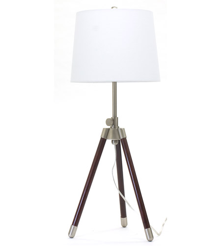 House of Troy TR250-SN Tripod 27 inch 150 watt Satin Nickel Table Lamp Portable Light photo