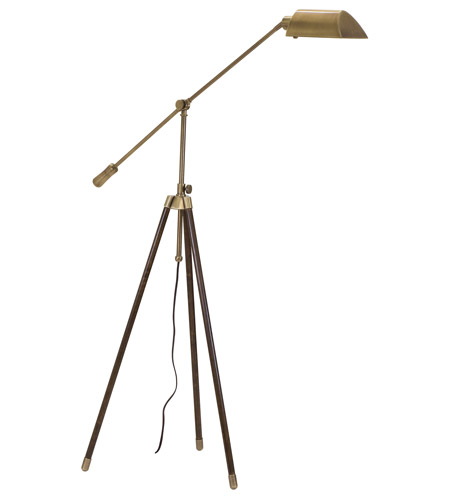 House of Troy Tripod 1 Light Floor Lamp in Antique Brass TR275-AB photo