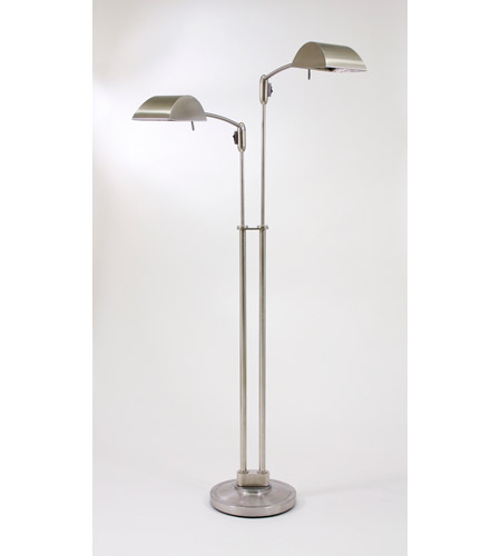 House of Troy Vision 2 Light Floor Lamp in Satin Nickel V500-2-SN photo