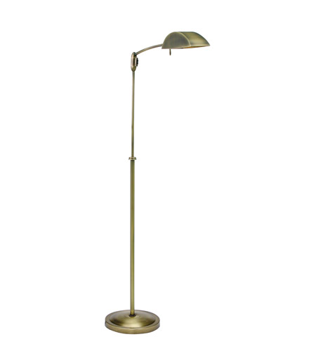 House of Troy Vision 1 Light Floor Lamp in Antique Brass V503-AB photo