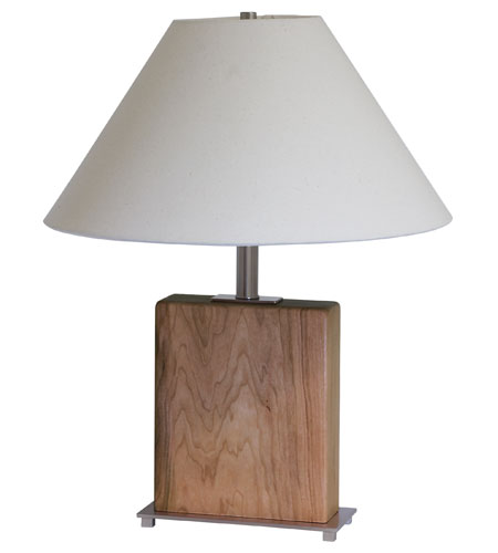 House of Troy VT Hardwood 1 Light Table Lamp in Satin Nickel VH252C-SN photo