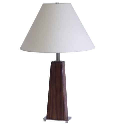 House of Troy VT Hardwood 1 Light Table Lamp in Satin Nickel VH255A-SN photo
