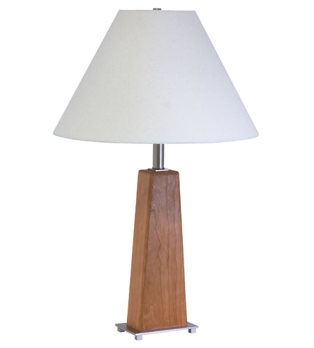 House of Troy VT Hardwood 1 Light Table Lamp in Satin Nickel VH255C-SN photo
