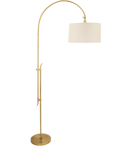House of Troy W401-AB Windsor 63 inch 150 watt Antique Brass Adjustable Floor Lamp Portable Light photo