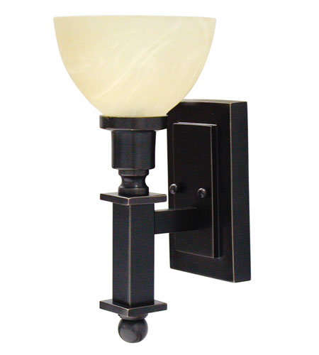 House of Troy Decorative Wall 1 Light Wall Lamp in Oil Rubbed Bronze WL615-OB photo