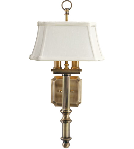 House of Troy WL616-AB Decorative Wall Lamp 2 Light 9 inch Antique Brass Wall Lamp Wall Light  photo