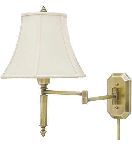 House of Troy WS-706-AB Decorative Wall Swing 19 inch 100 watt Antique Brass Wall Swing Arm Wall Light photo