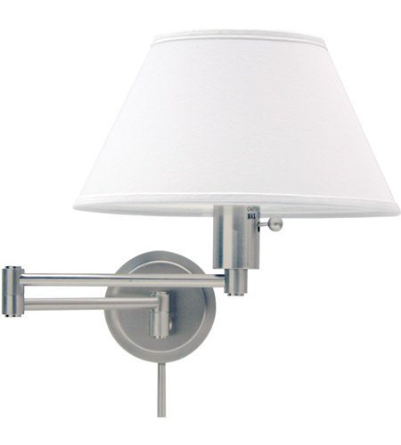 House of Troy WS14-52 Home/Office 19 inch 100 watt Satin Nickel Wall Swing Arm Wall Light in 12.5 photo