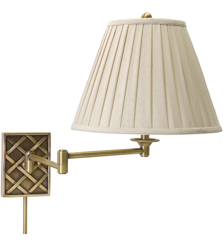 House of Troy WS760-AB Decorative Wall Swing 24 inch 100 watt Antique Brass Wall Swing Arm Wall Light in 6 photo