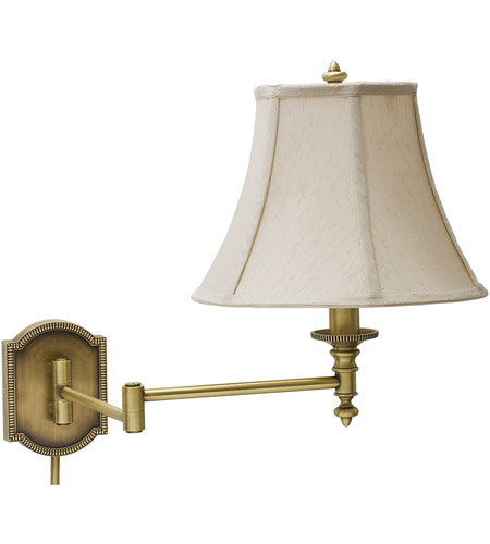 House of Troy WS761-AB Decorative Wall Swing 24 inch 100 watt Antique Brass Wall Swing Arm Wall Light photo