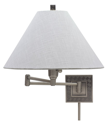 House of Troy Decorative Wall 1 Light Swing-Arm Wall Lamp in Antique Silver WS762-AS photo