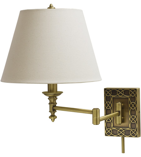 House of Troy WS763-AB Decorative Wall Swing 24 inch 100 watt Antique Brass Wall Swing Arm Wall Light photo