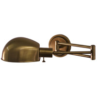 House of Troy Addison 1 Light Swing-Arm Wall Lamp in Antique Brass AD425-AB
