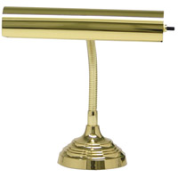 House of Troy AP10-20-61 Advent 12 inch 40 watt Polished Brass Piano Lamp Portable Light in 11.5 photo thumbnail
