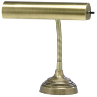 House of Troy AP10-20-71 Advent 12 inch 40 watt Antique Brass Piano Lamp Portable Light in 11.5