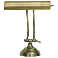 House of Troy AP10-21-71 Advent 11 inch 40 watt Antique Brass Piano Lamp Portable Light in 10.5
