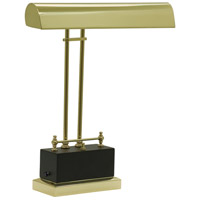 Piano and Desk 14 inch 3.2 watt Black & Brass Piano Lamp Portable Light in Black and Brass