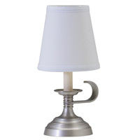 House of Troy Coach 1 Light Table Lamp in Antique Silver CH878-AS photo thumbnail