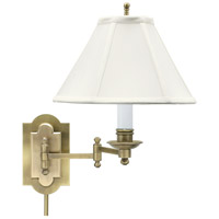 House of Troy Club 1 Light Swing-Arm Wall Lamp in Antique Brass CL225-AB