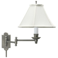 House of Troy Club 1 Light Swing-Arm Wall Lamp in Antique Silver CL225-AS