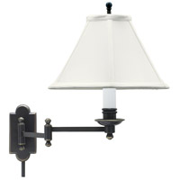 House of Troy Club 1 Light Swing-Arm Wall Lamp in Oil Rubbed Bronze CL225-OB