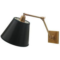 House of Troy Classic Contemporary 1 Light Library Wall Lamp in Weathered Brass DL20-WB
