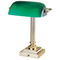 Shelburne 14 inch 60 watt Polished Brass Desk Lamp Portable Light