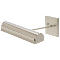 Classic 4.5 watt 14 inch Satin Nickel with Polished Nickel Accents Picture Light Wall Light, Direct-Wire, Strap Motif