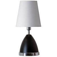 Geo 12 inch 60 watt Black Matte/Chrome Mini Accent Lamp Portable Light