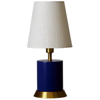 Geo 12 inch 60 watt Navy Blue/Weathered Brass Mini Accent Lamp Portable Light