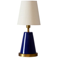 House of Troy GEO409 Geo 13 inch 60 watt Navy Blue/Weathered Brass Mini Accent Lamp Portable Light photo thumbnail