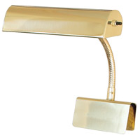 House of Troy Grand Piano 1 Light Piano Lamp in Polished Brass GP10-61