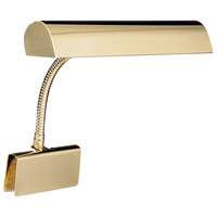 House of Troy GP14-61 Grand Piano 9 inch 25 watt Polished Brass Piano Lamp Portable Light thumb