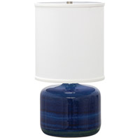 House of Troy GS120-BG Scatchard 20 inch 100 watt Blue Gloss Table Lamp Portable Light photo thumbnail