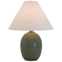 House of Troy Scatchard 1 Light Table Lamp in Green Matte GS140-GM