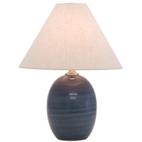 House of Troy Scatchard 1 Light Table Lamp in Medium Blue GS140-MDB