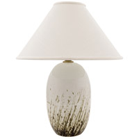 Scatchard 29 inch 250 watt Decorated White Gloss Table Lamp Portable Light