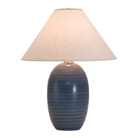 House of Troy Scatchard 1 Light Table Lamp in Medium Blue GS150-MDB