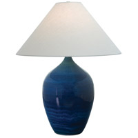 House of Troy Scatchard 1 Light 27-in Table Lamp in Blue Gloss GS190-BG