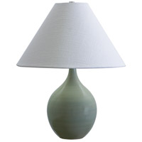 Scatchard 19 inch 100 watt Celadon Table Lamp Portable Light