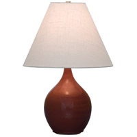 Scatchard 19 inch 100 watt Copper Red Table Lamp Portable Light