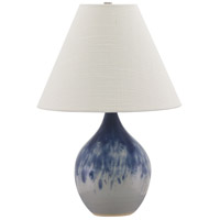 House of Troy GS200-DG Scatchard 19 inch 100 watt Decorated Gray Table Lamp Portable Light photo thumbnail