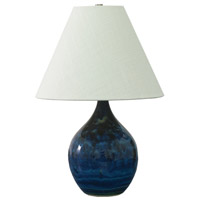 Scatchard 19 inch 100 watt Midnight Blue Table Lamp Portable Light