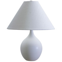 Scatchard 19 inch 100 watt White Matte Table Lamp Portable Light