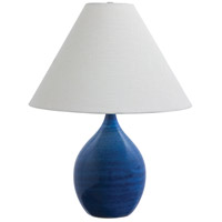 House of Troy GS300-BG Scatchard 23 inch 150 watt Blue Gloss Table Lamp Portable Light in 22.5