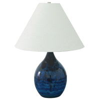 House of Troy Scatchard 1 Light Table Lamp in Midnight Blue GS300-MID