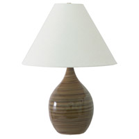 Scatchard 24 inch 100 watt Tiger''s Eye Table Lamp Portable Light in Tiger's Eye, 23.5